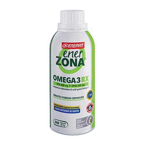 Enerzona Enervit, Integratore Alimentare per il Controllo del Colesterolo e Trigliceridi, Omega 3 RX - 240 Capsule (scad. 16/09/2021)