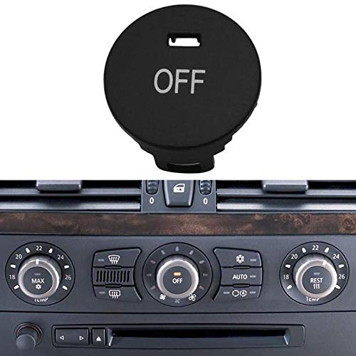 Car Off Climate Control Knob Panel Switch Knobs Button Air Conditioner Button Repair Cap for BMW 5 Series E60 E61
