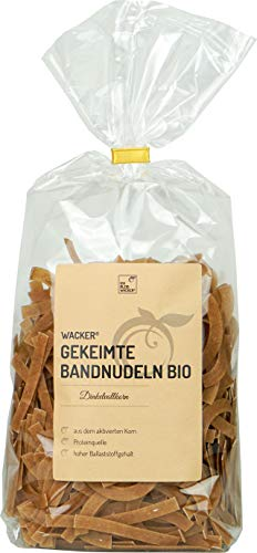 Wacker Gekeimte Bandnudeln Dinkelvollkorn Bio, 500g.