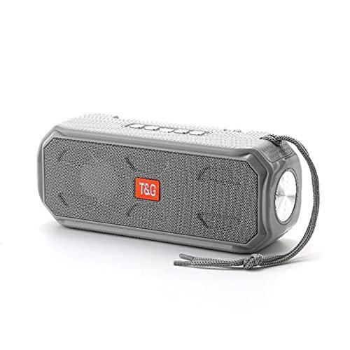 Altavoz Bluetooth Inalámbrico con Carga Solar 2021 con Linterna Brillante Y Radio FM, Ranura para Tarjeta TF, para Acampar Al Aire Libre,Gris