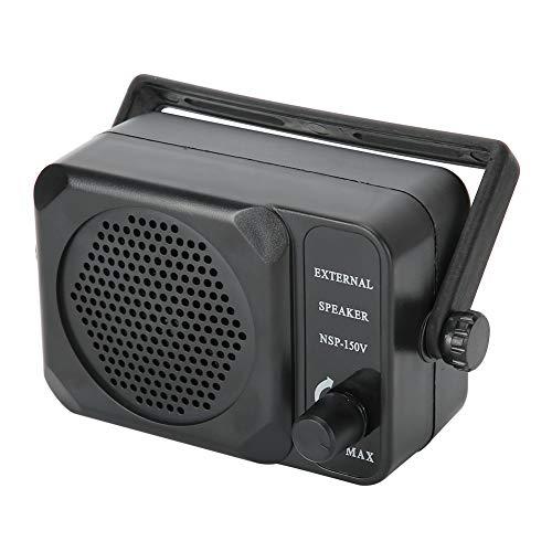 Topiky Altoparlante Portatile Esterno, 10 W Mini 8 Ohm Altoparlante Esterno Lettore Audio con connettore da 3,5 mm Interruttore Filtro antirumore Incorporato per autoradio FT-8100R FT-8800R FT-2600M
