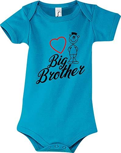 Shirtstown Big Brother Combinaison pour bébé - Bleu - 12-18 Mois