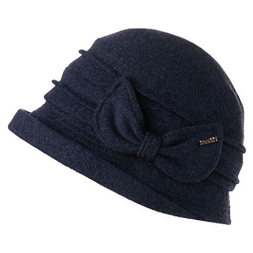 Fancet Sombrero de Lana para Mujer, Estilo Vintage de los años 20, Estilo Derby Church, para Mujer, aplastable y...