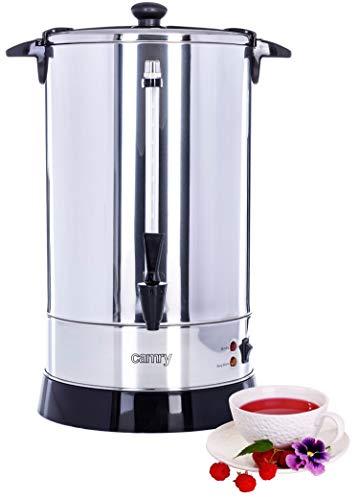 20 L Wasserspender | Boiler | Glühweinspender | Thermopot | Heißwasserspender | 1650 Watt | Überhitzungs- und Trockenkochschutz | Edelstahl |