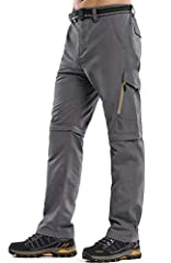 Hiking Pants Mens: Comfort fit part elastic waist for many body types,water repellent, wear-resisting,this outdoor hiking pants features a classic cargo silhouette with straight leg design for comfortable and loose, which can adapt to the big movemen...