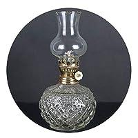 ランプ用オイル 仏光用のレトロなオイルランプホーム緊急ライト停電アンティーク灯油装飾照明ランプラウンドボディバターランプ ZHAOFENGE (Color : Transparent)