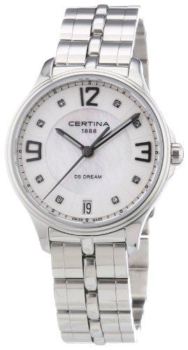 Certina Damen-Armbanduhr XS Analog Quarz Edelstahl C021.210.11.116.00