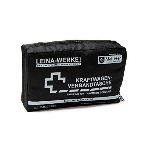Leina-Werke 11006 KFZ-Verbandtasche Compact mit Klett, Schwarz/Weiß