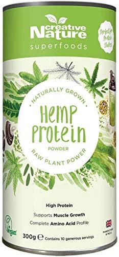 Creative Nature Raw Hemp Vegan Protein Powder - 20 Servings - Pack of 2 x 300g Tubs