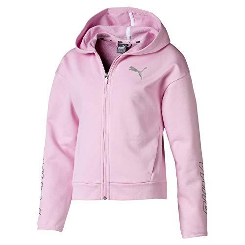PUMA Alpha Mädchen Kapuzen-Sweatjacke Pale Pink 164