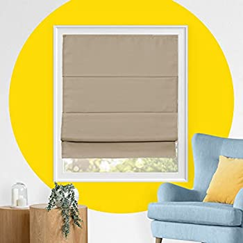 Roman Window Shades  Blackout Roman Shades  Fabric Blinds Window Treatments  Cordless Roman Shades  Roman Blinds and Curtains  Room Darkening Blinds  31 x 64  Doheny Sierra by YELLOW BLINDS