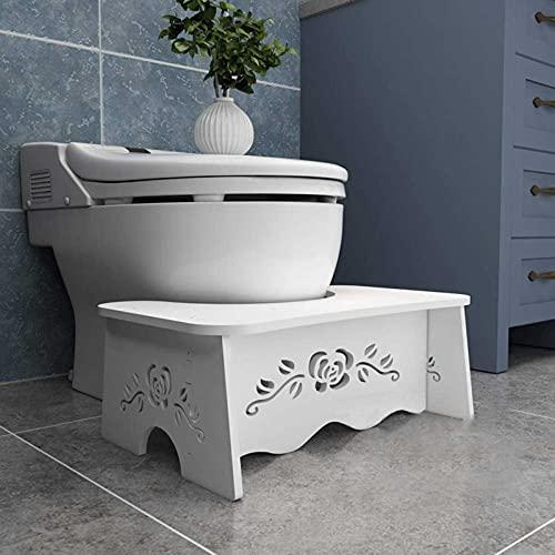 Toilettenhocker aus weißem Holz