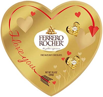 Ferrero Rocher Fine Hazelnut Milk Chocolate Heart Shaped Valentine s Day Chocolate Candy Gift product image