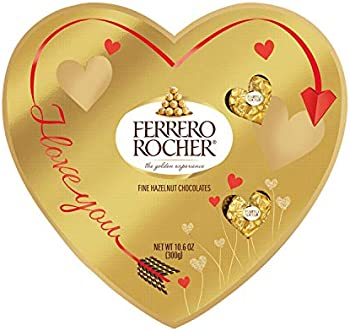 24-Count Heart Shaped Ferrero Rocher Fine Hazelnut Milk Chocolate 10.6 oz