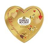 Ferrero Rocher Fine Hazelnut Milk Chocolate, Heart Shaped Valentine's Day Chocolate Candy Gift Box, 10.6 Oz, 24 Count