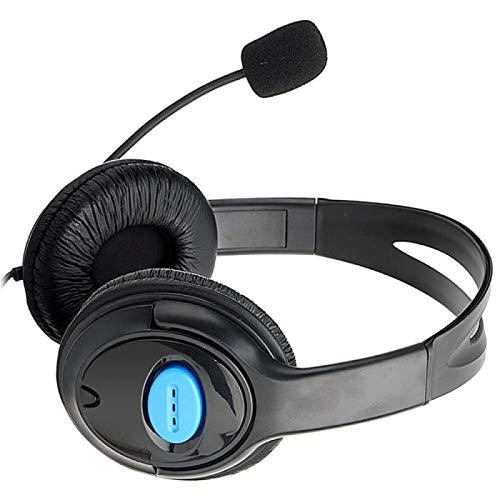 xiaoxioaguo Auriculares de juego con cable de 3,5 mm para jugadores, micrófono estéreo con micrófono, auriculares para graves súper graves