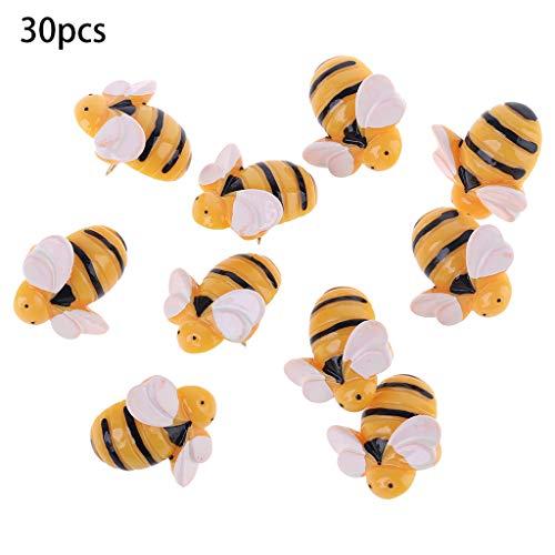taishan 30 Pcs Kreative dekorative süße Bienen Daumen Reißnägel ThumbNails PushPins Push Pins S.