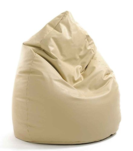 VALERIAN Sitzsack Leder-Look beige, XXL CA. 300 LITER