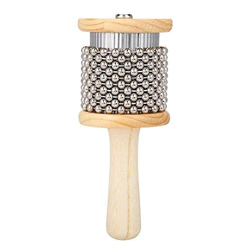 Dilwe Holz-Cabasa, Holz-Handshaker Cabasa Percussion-Instrument klein für Schüler Kinder