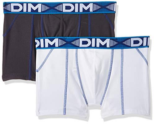 Dim Herren 3D Flex AIR Boxer Long X2 Badehose, Mehrfarbig (Weiß T Blau/Grau Blei Ct Blau), XXL (2er Pack)
