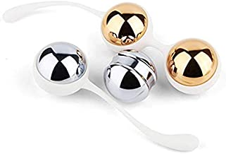 Ben Wa Balls Sets Weighted - Kegel Exercise Kit Weights To Tone and Strengthen Your Pelvic Floor Muscle - Metal with String Silicone for Beginners or Advanced