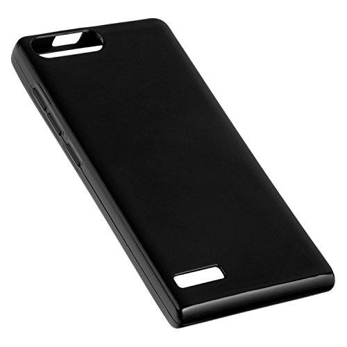 yayago Hülle für Huawei Ascend P7 Mini Silikon Schutzhülle Hülle Hülle Backcover Schwarz
