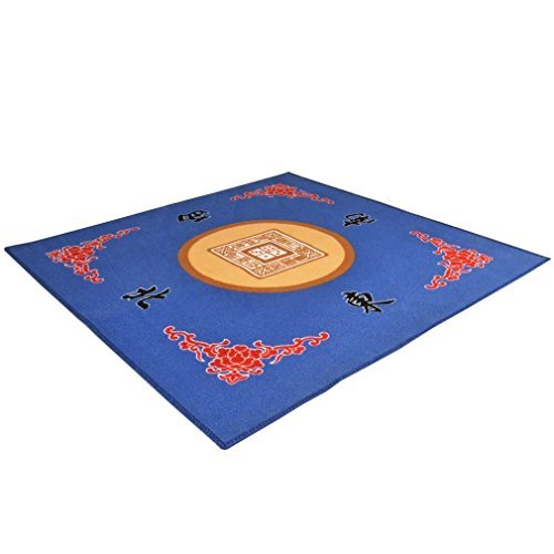 "THY COLLECTIBLES Universal Mahjong / Paigow / Card / Game Table Cover - Blue Mat 31.5"" x 31.5"" (80cm x 80cm)"