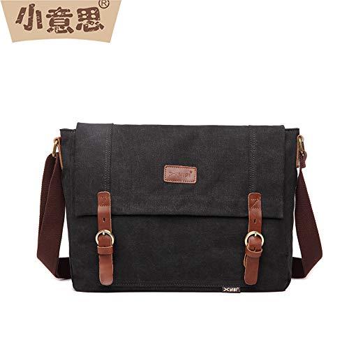 zxcv New Men's Shoulder Bag Canvas Messenger Bag Casual School Bag