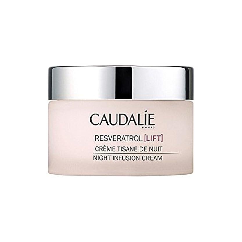 中世の聡明起きろCaudalie Resveratrol Lift Night Infusion Cream 50Ml (Pack of 6) - コーダリーレスベラトロールリフト夜の注入クリーム50 x6 [並行輸入品]