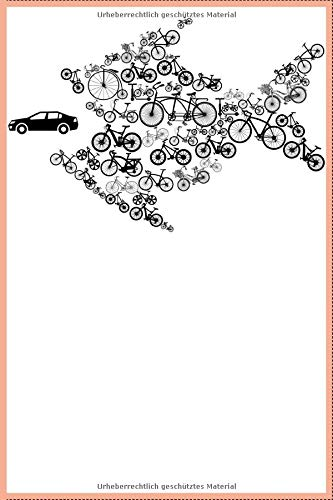 Umweltschutz Fahrrad Fisch Notizbuch: DIN A5 Kariert 120 Seiten Fahrrad frisst Auto MTB Mountainbike Rennrad Downhill Radsport Bike als Geschenkidee & ... Planer Tagebuch Notizheft Notizblock