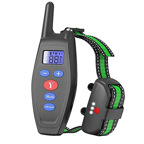 Collar De Adiestramiento para Perros-Rango Remoto de 800 Metros-Recargable-Resistente Al Agua-Pitido De Alerta Y Modo De Vibración,Negro