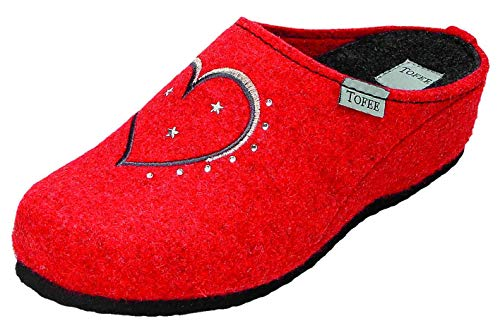 TOFEE , Chaussons pour Femme Rouge Rouge Rouge Rouge, 42 EU