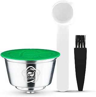 i Cafilas Capsule Filtre de Café Réutilisables, Capsules Rechargeables à Café Compatibles avec les Machines Nescafe Dolce ...