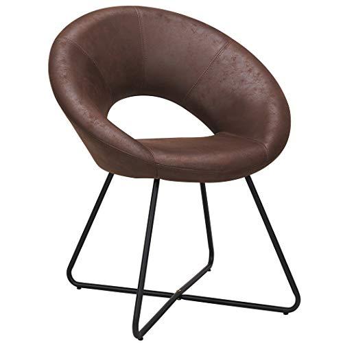 Duhome Esszimmerstuhl Stoffbezug Lederoptik Braun Schokoladenbraun Konferenzstuhl Besucherstuhl herausragendes Design Farbauswahl 439D