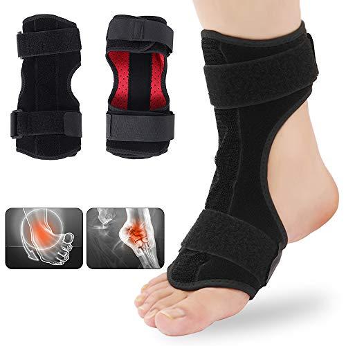 MooKe Plantarfasziitis Nachtschienenorthese, Verstellbarer Fallfuß Orthesenstabilisator Knie Knöchelstütze Linderung Schmerz Passt Für Linken Oder Rechten Fuß