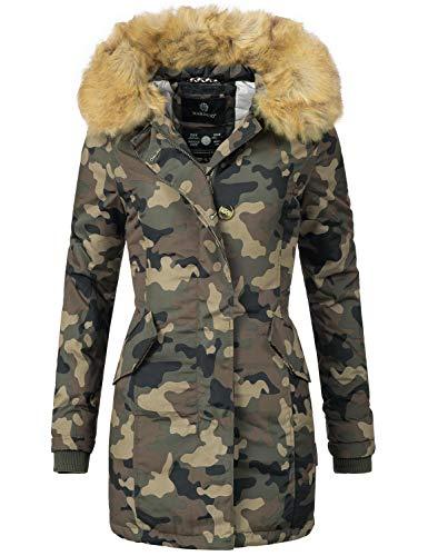Marikoo Damen Winter Mantel Winterparka Karmaa Camouflage Gr. S