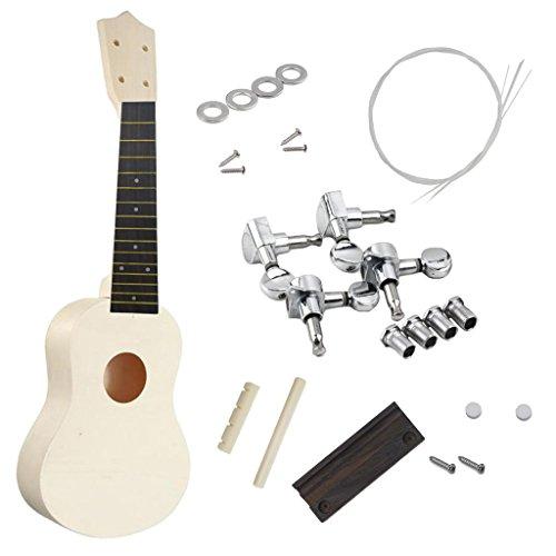 Bricolaje 21 Pulgadas Ukelele Soprano Guitarra Hawaiana Kit Uke Piezas De Instrumentos De Madera