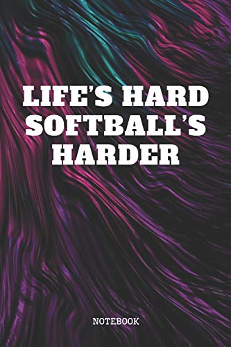Notebook: I Love Softball Game Training Planner / Organizer / Lined Notebook (6