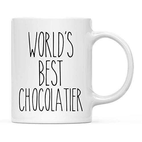 Farmhouse - Taza de cerámica para decoración de cocina rústica, regalo de agradecimiento, mejor chocolatero del mundo, 1 paquete, ideas de regalo de cumpleaños y Navidad para él, ella, caja de regalo