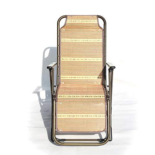 LUO Dormitorio Cama Silla, Estudiante Lazy Chair, Colegio Dormitory Artifact Interior Siesta Outdoor Casual Acogedor Respirable Silla de Playa Respaldo Silla Silla Plegable Bamboo Lounge Chair