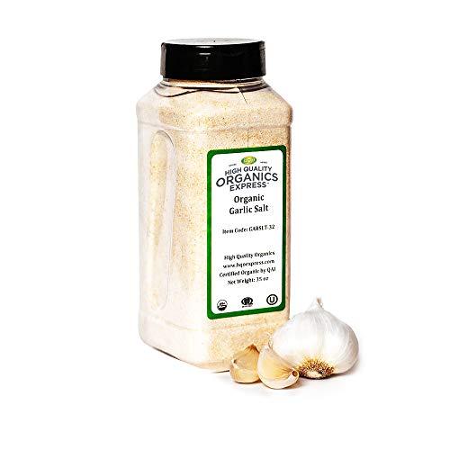 HQOExpress | Organic Garlic Salt | 35 oz. Chef Jar