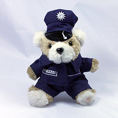 MIH-Medical Schlüsselanhänger Polizei Teddy - Keyring - Polizeiteddy - Plüschteddy - Kuscheltier