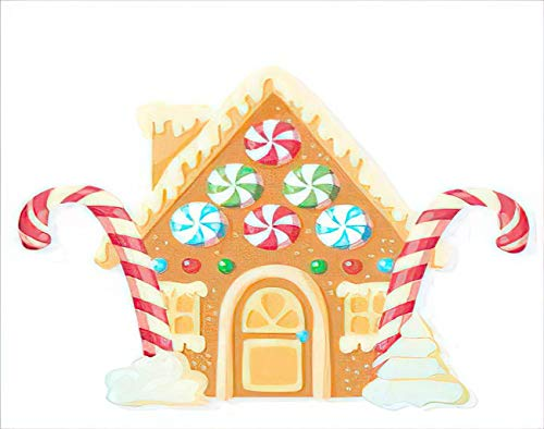 Aofire Christmas Home Sweet Diamond Painting Kits for Adults Kids, Bright Cottage Cookies Sweets Treats Gingerbread House Shaped Painting by Number Diamond Dotz 5D Gem Arts Wall Decor 12x16 Inch