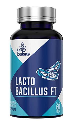 LAS BALSAS, Cápsulas LACTOBACILLUS + PROBIÓTICOS + PREBIÓTICOS - Suplemento desarrollo de bacterias beneficiosas. 60 Cápsulas / 1 Mes