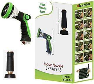 Green Friendly Home Strongest Garden Hose Nozzle Sprayers, Water Hose Nozzles, Zinc Alloy Spray Nozzle, Black Solid Brass ...