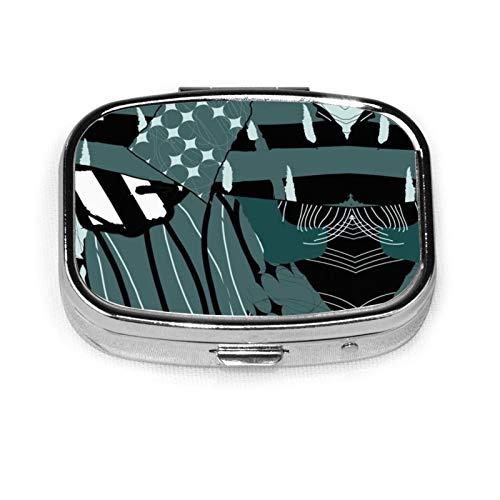 Scrapped Pill Box Pill Organizer Travel Medicine Case 2 Compartments Daily Portable for Purse Pocket Idea Gift