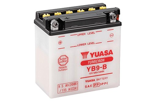 Batterie YUASA YB9-B, 12V/9AH (Maße: 138x77x141) für Aprilia Sportcity 50 One 2T Baujahr 2009