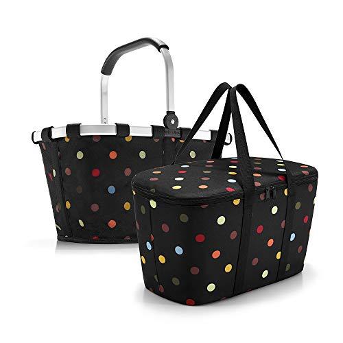 Reisenthel carrybag dots und coolerbag dots im Set - schwarz Bunte Punkte