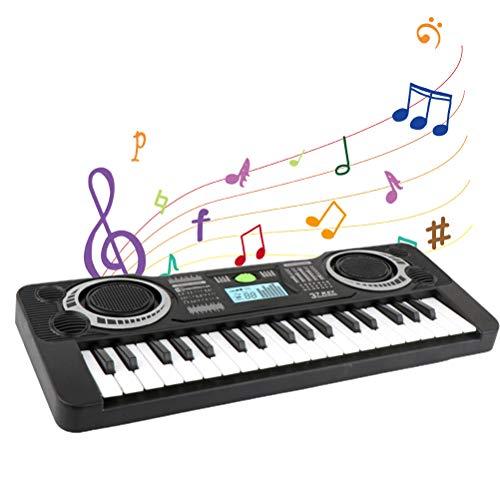 Yissma Piano de 37 Teclas para niños pequeños, Teclado electrónico Multifuncional para niños, Piano, Juguete Educativo Musical