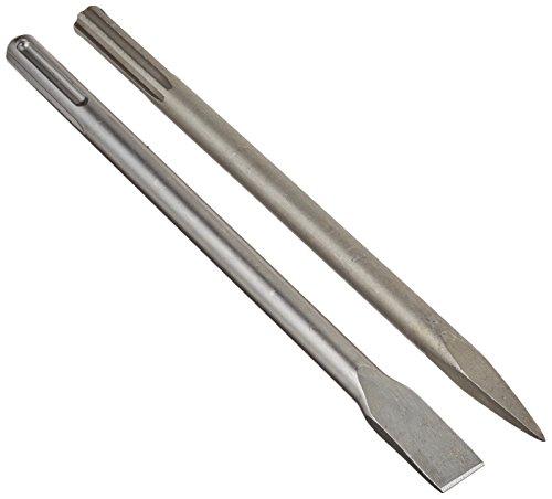 Scheppach 7907900001 Zubehör/Flach + Spitzmeißel Set, passend für den DH1200MAX Bohr-und Schlaghammer, Durchmesser 18 mm, L 350 mm